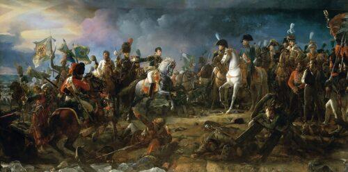 Napoléon at the Battle of Austerlitz, by François Gérard © Galerie des Batailles, Versailles 1810. Kilde: Wikipedia (OD)