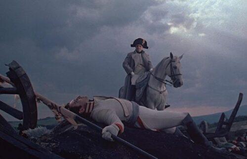 Vyacheslav Tikhonov at Austerlitz in the film by Bondarchuk. War and Peace 1966