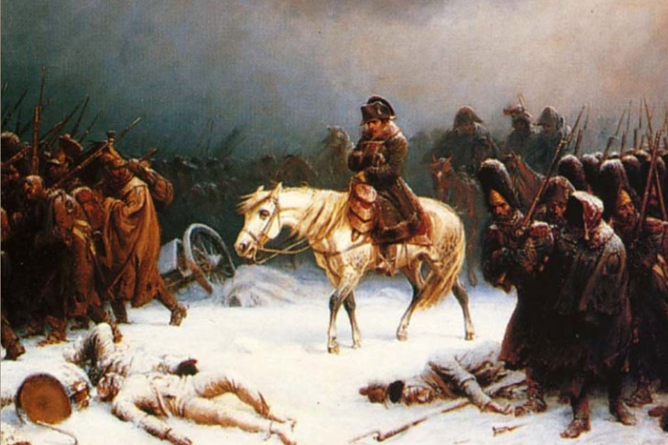 Adolph Northen: Napoleon's Retreating from Moscau. Source: Wikipedia