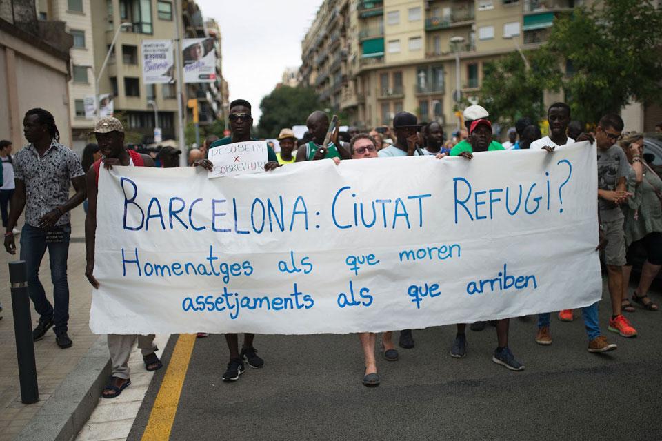 Flygtninge i Barcelona Source: Vice