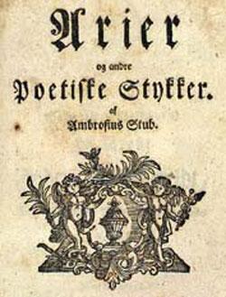 Omslag for digtsamling Ambrosius Stub