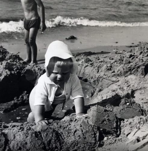 Ud på oplevelsestur ved Liseleje Strand 1954